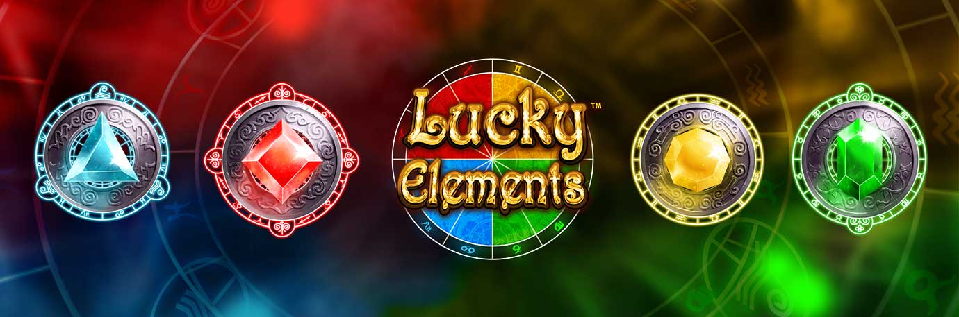 Lucky Elements text Image Header