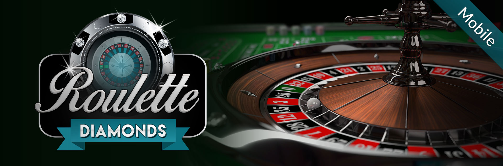 Roulette Diamonds mobile logo