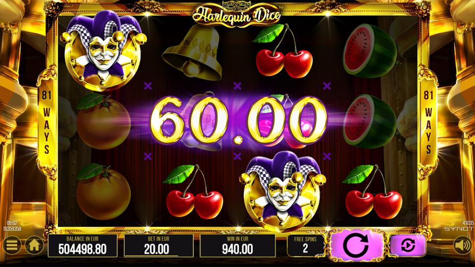 Harlequin Dice Free Spins Win small