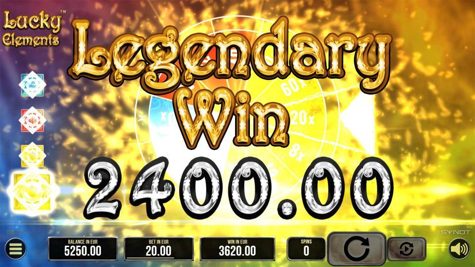 Lucky Elements Legendary Win