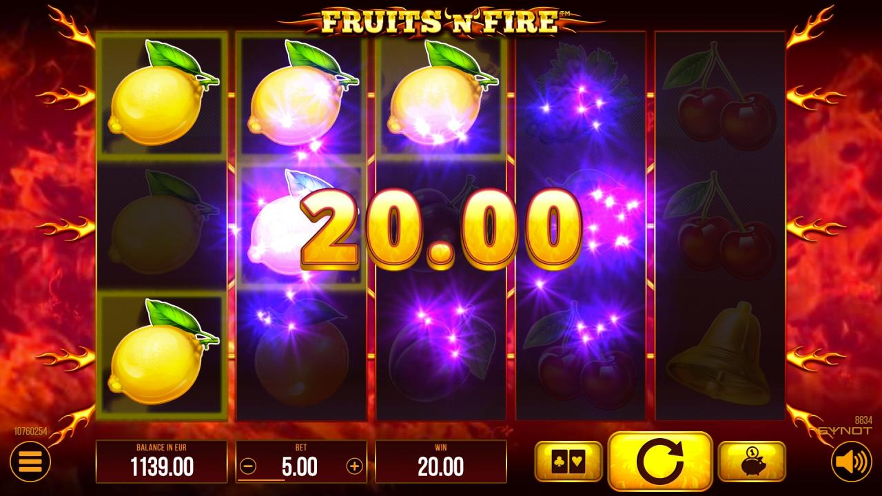 FruitsNFire win