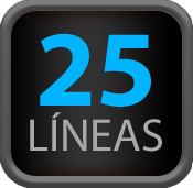 25 Líneas