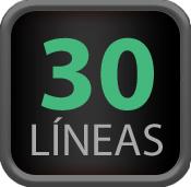 30 lineas