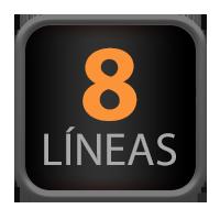 8 Líneas