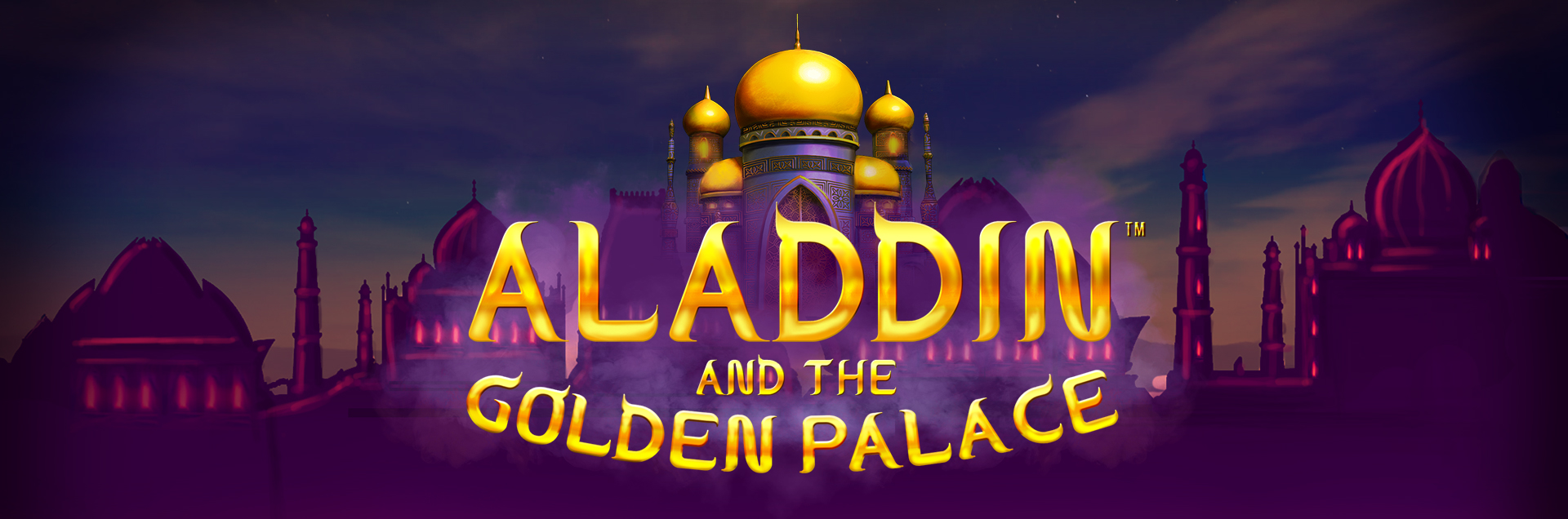 Aladdin and the Golden Palace header banner