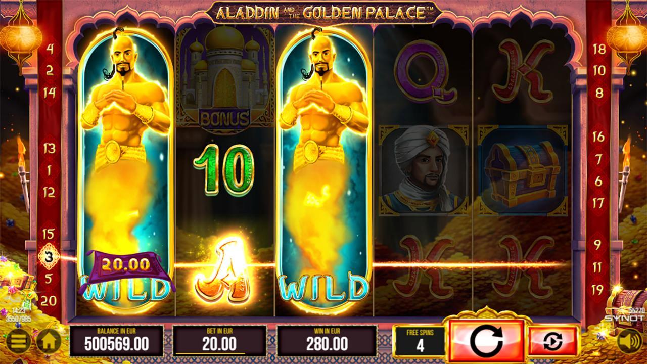 Aladdin spēļu automāts!