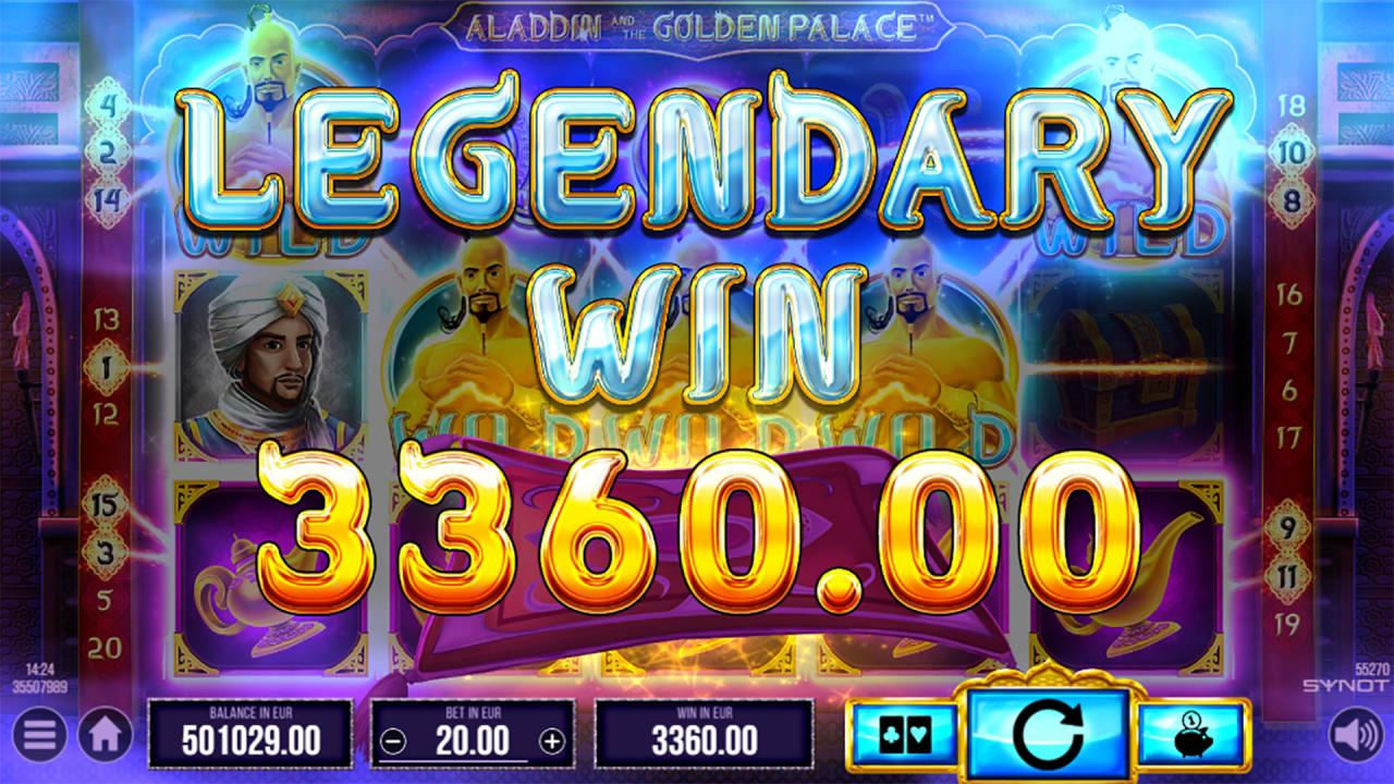 Aladdin and the Golden Palace legendary win