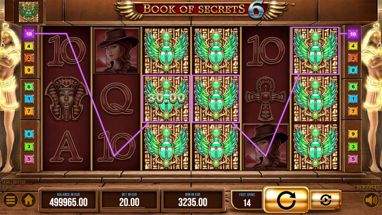 Book of Secrets scarab symbol