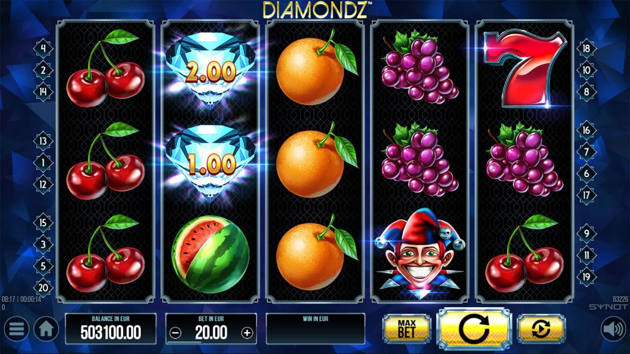 Diamod Z reels base game