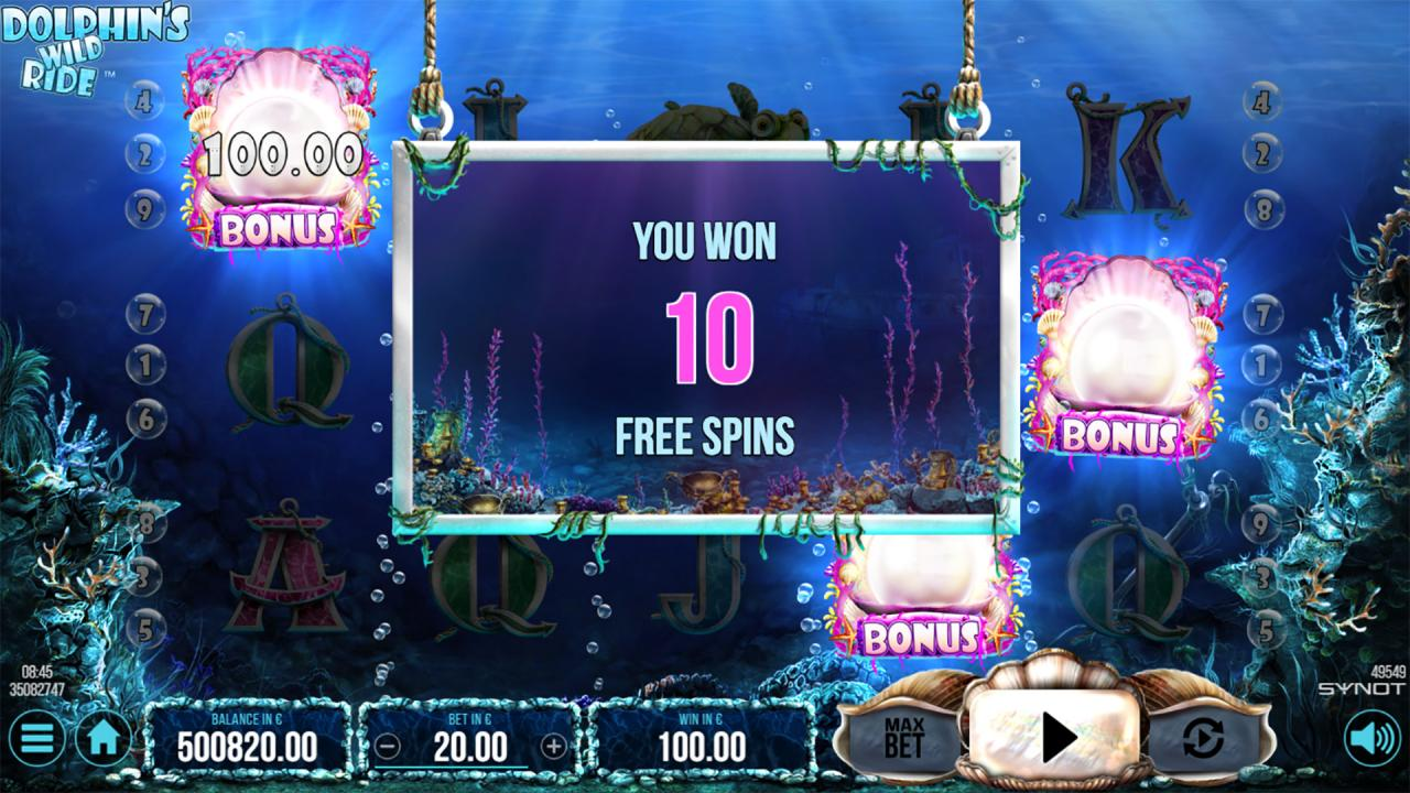 Dolphins Wild Ride free spins