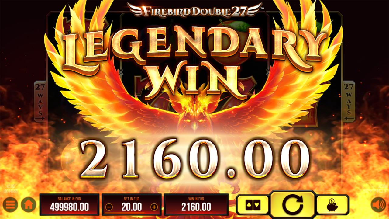 Firebird Double27 legendary win