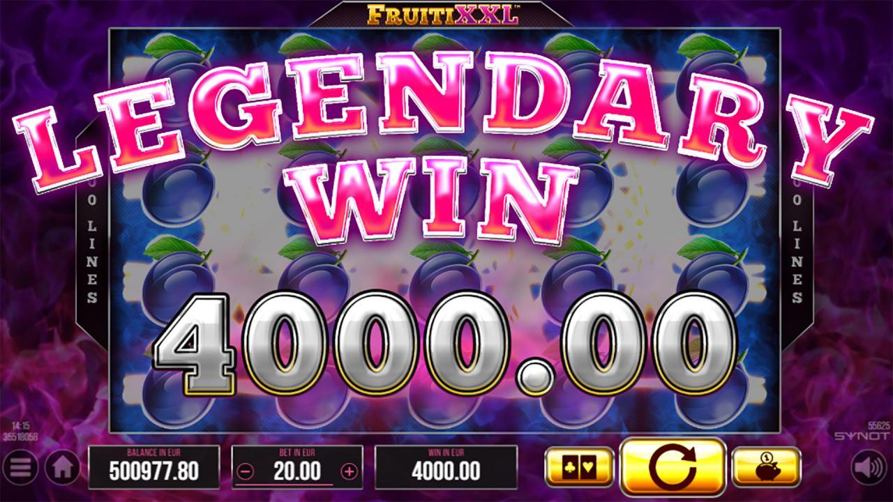 FruitiXXL big legendary win