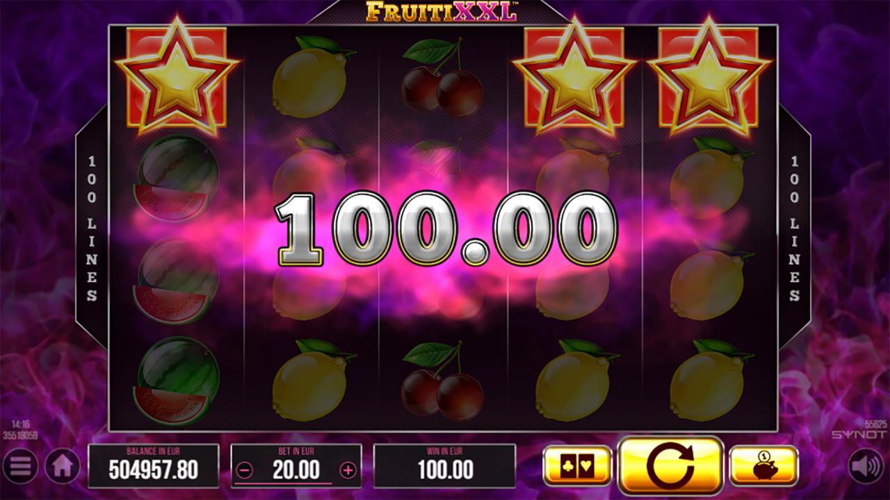 FruitiXXL scatter win