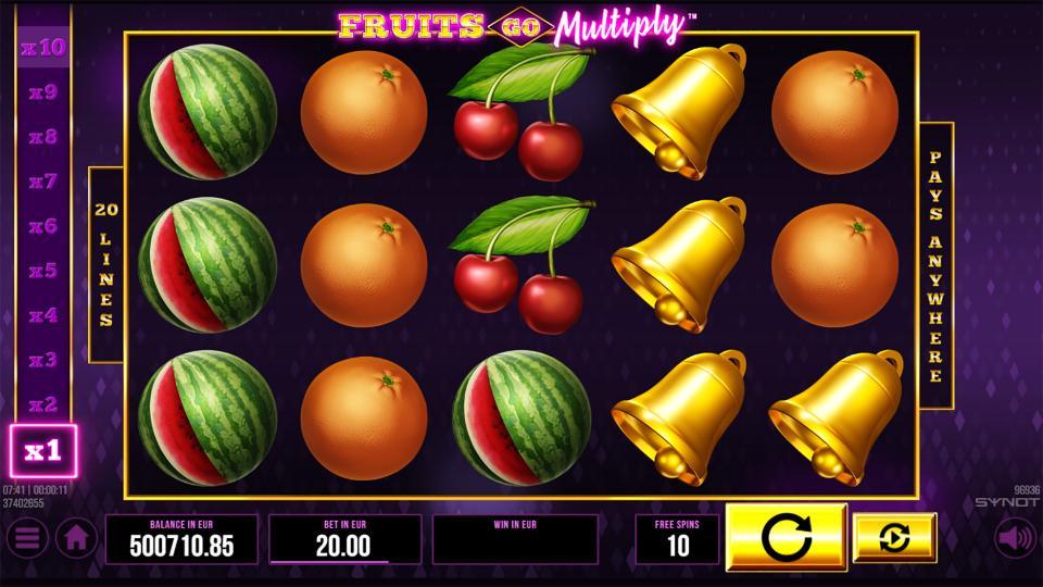 Fruits Go Multiply reels FS