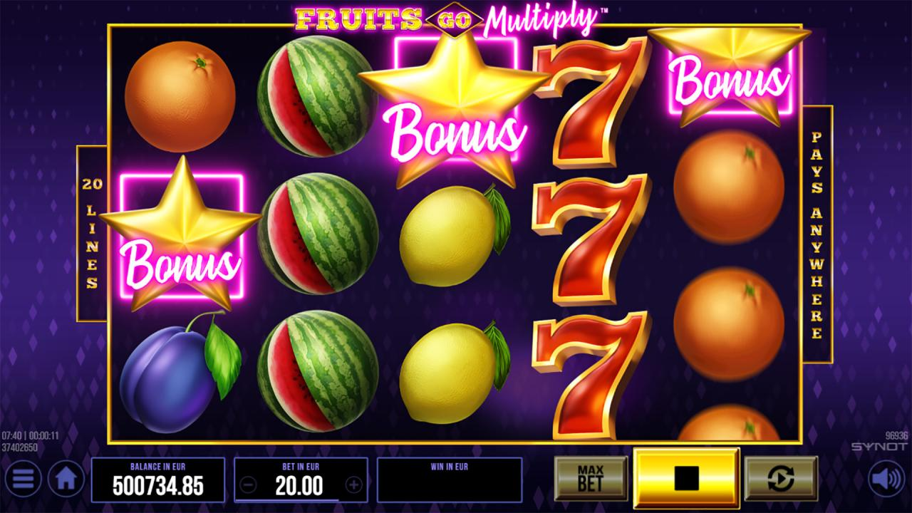 Fruits Go Multiply bonus