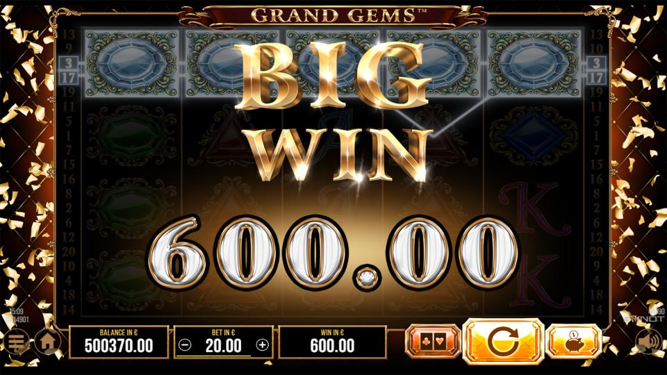 Grand Gems big win