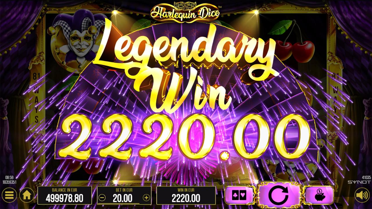 Harlequin Dice Legendary Win