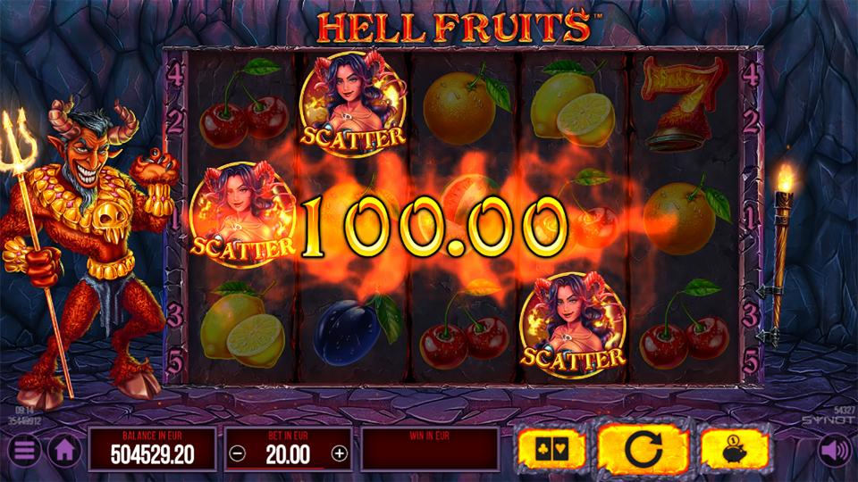 Hell Fruits scatter win 2