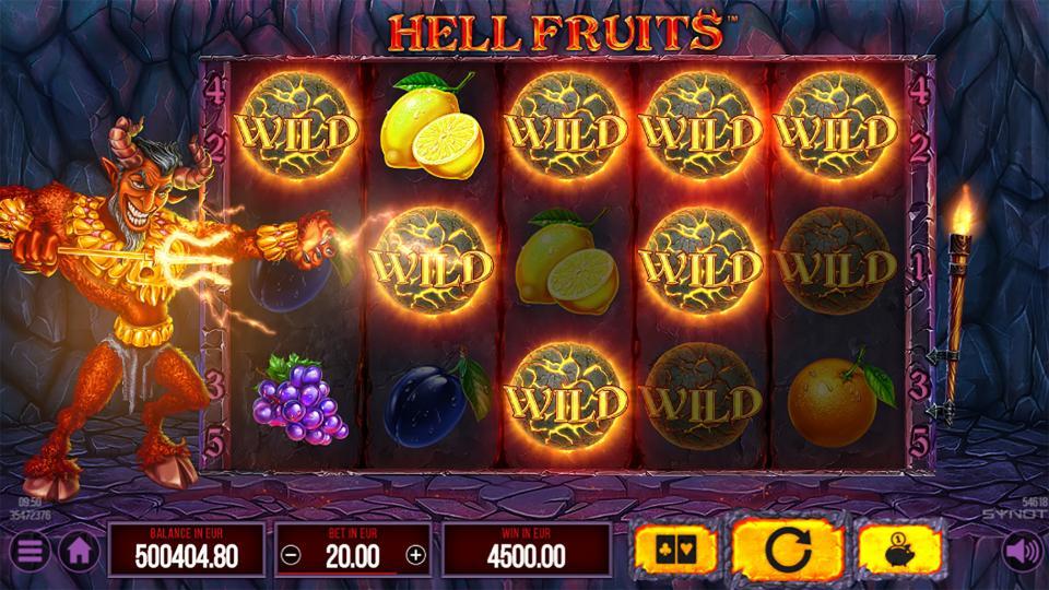 Hell Fruits wild fire ball feature