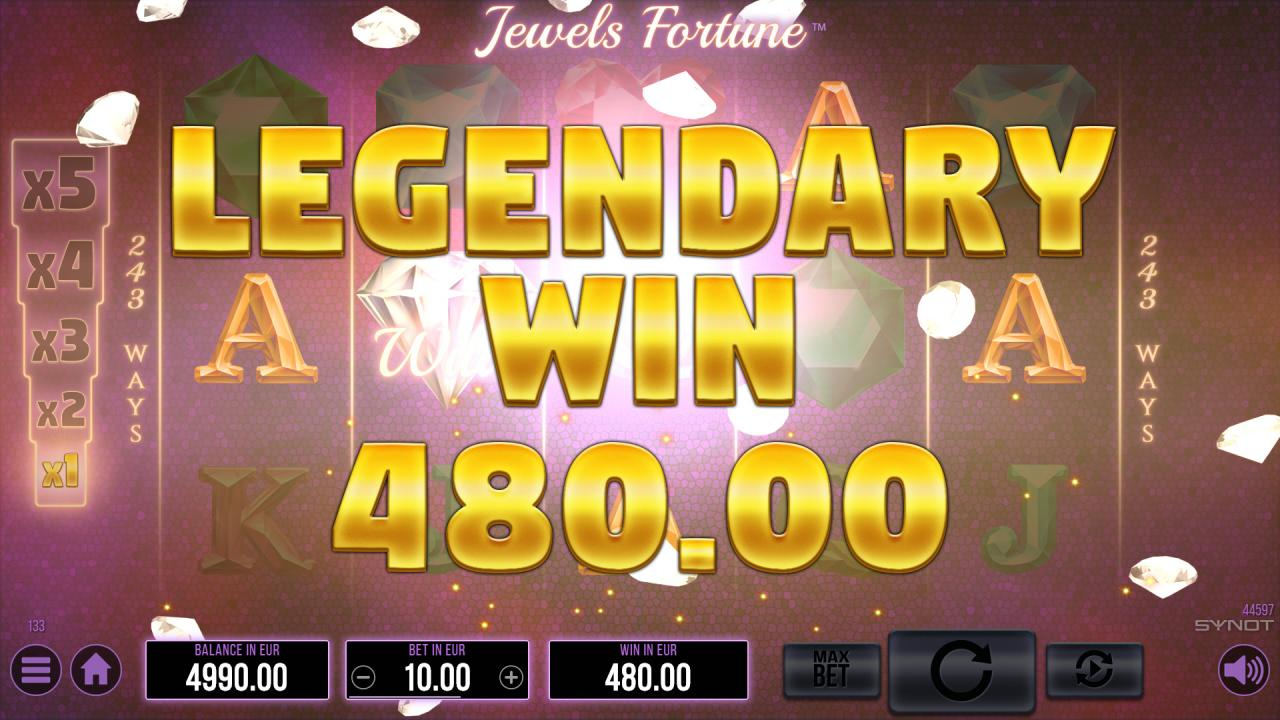 Jewels Fortune Legendary Win