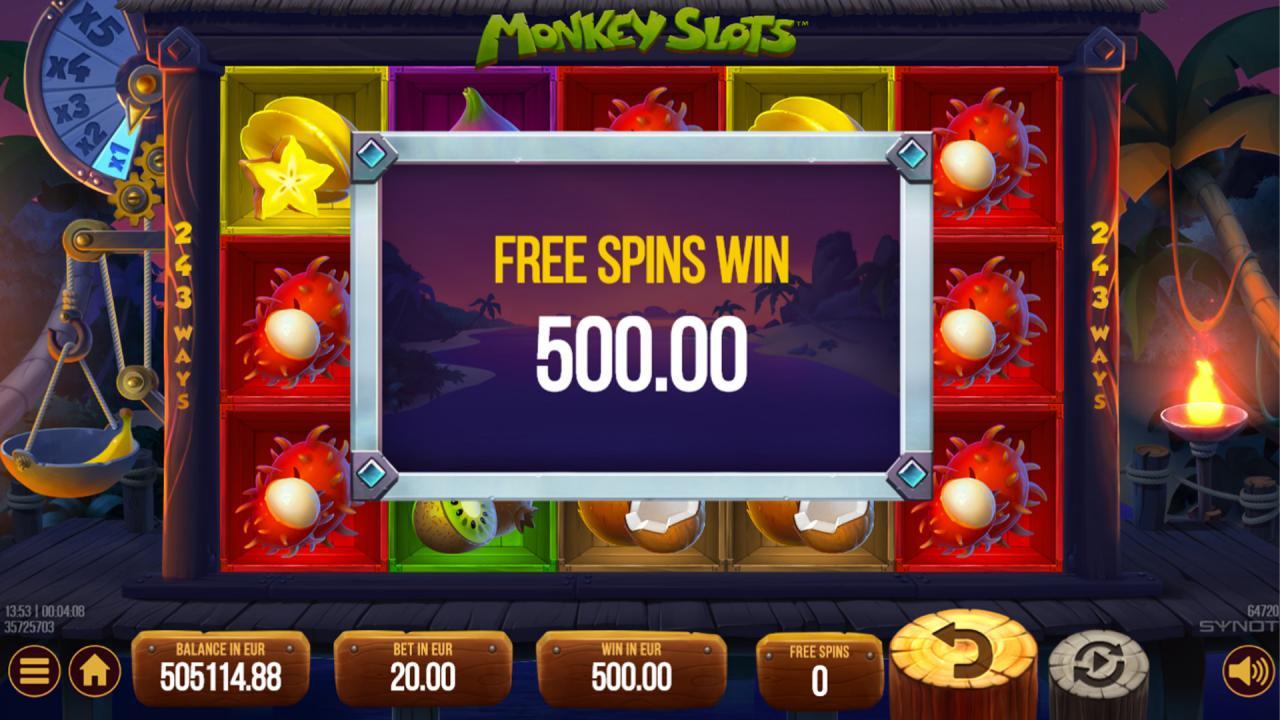 MonkeySlots freespinswin