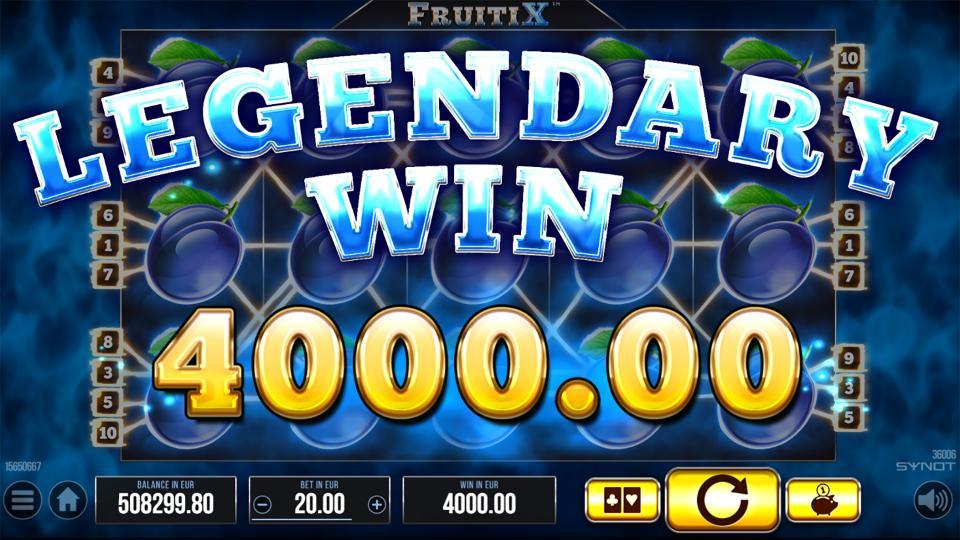 FruitiX legendary win