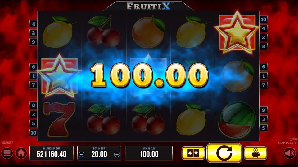 FruitiX scatter win