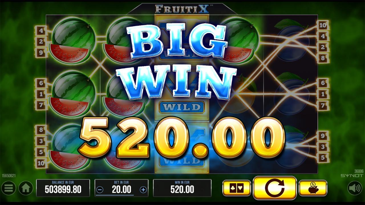 FruitiX big win