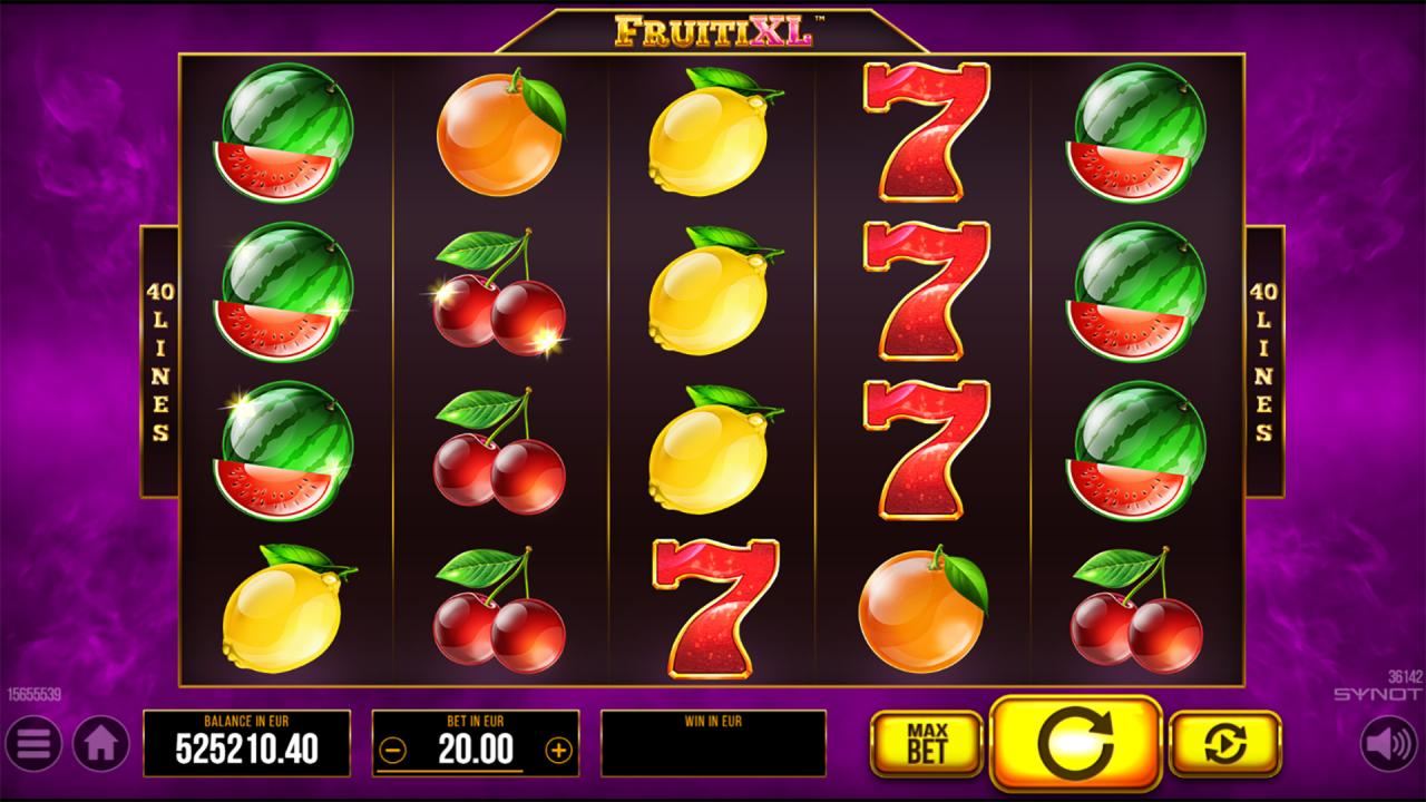FruitiXL reels