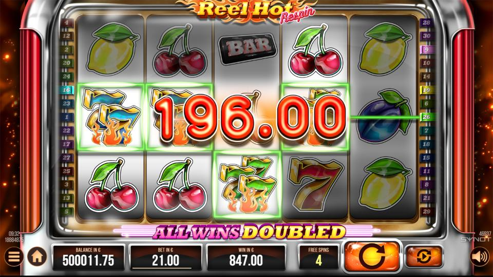Reel Hot Respin free spin win
