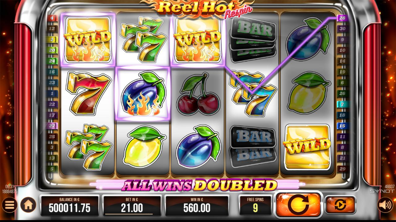 Reel Hot Respin free spins reels