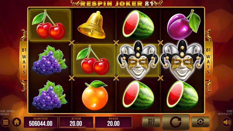 Respin Joker 81 reels joker
