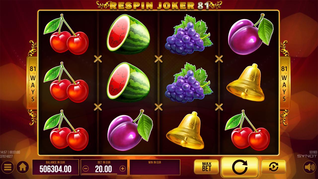 Respin Joker 81 reels