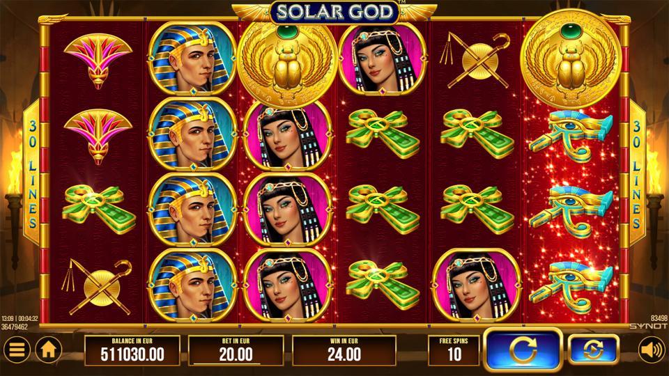 Solar God FS reels