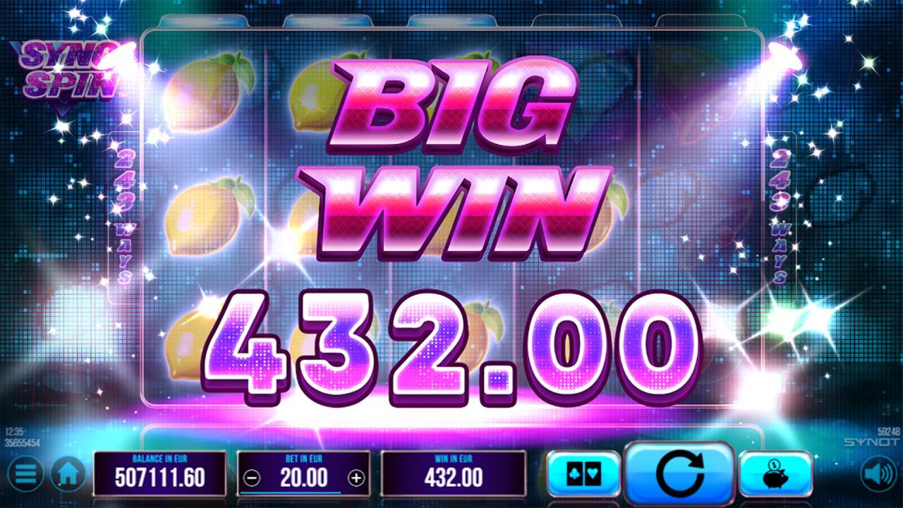 Sync Spin big win