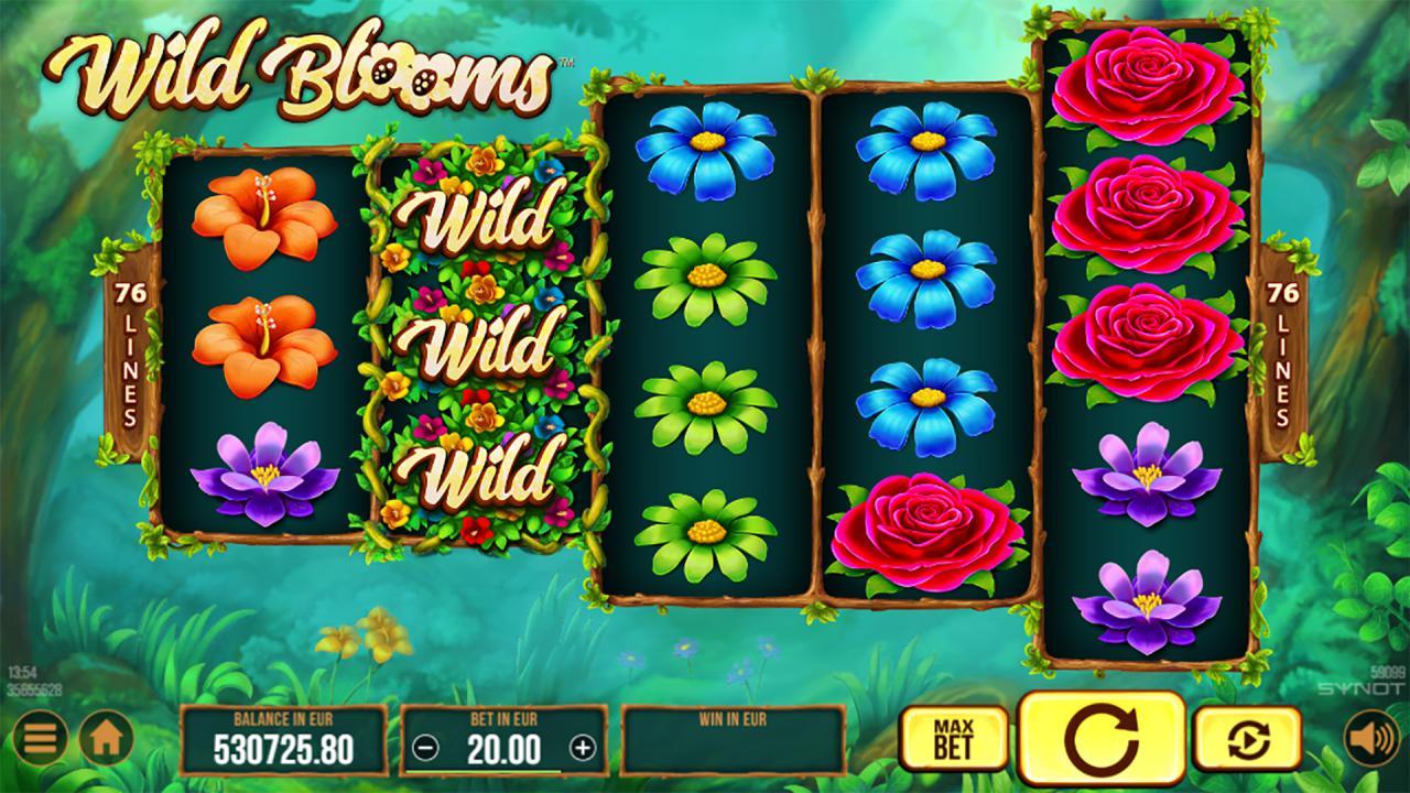 Wild Blooms reels wild symbol 2