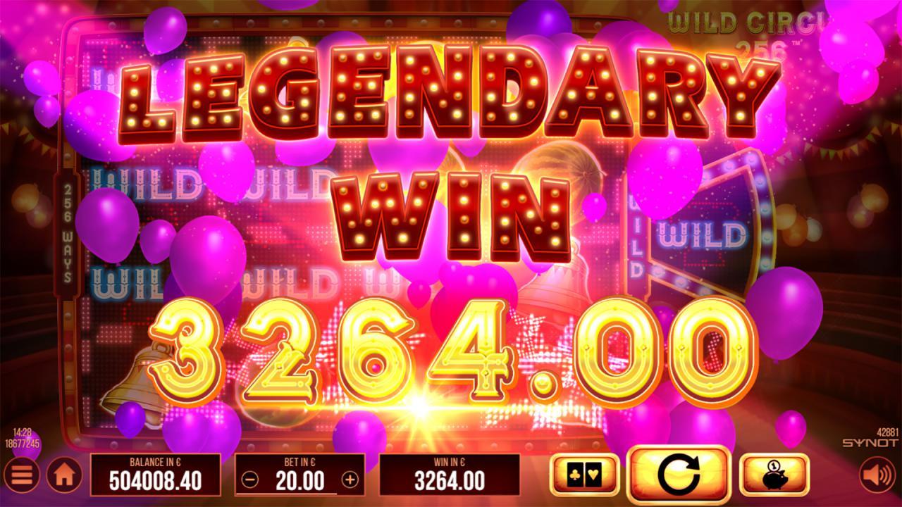 Wild Circus 256 Legendary win